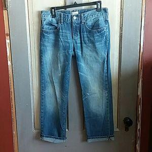 Gap slim boyfriend cuffed jeans